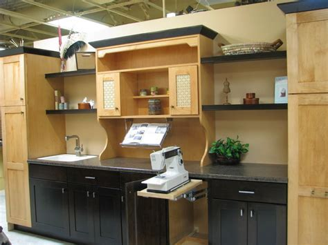 Pop up mixer cabinet for sewing machine   Contemporary