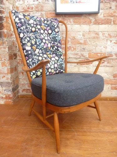 laras de pie estilo co 50s 60s ercol windsor armchair 100 wool model no 478