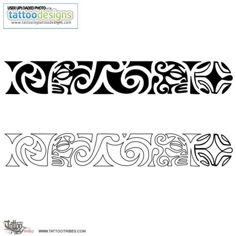 maori tattoo wrist tribal bracelet tattoos maori wrist band image