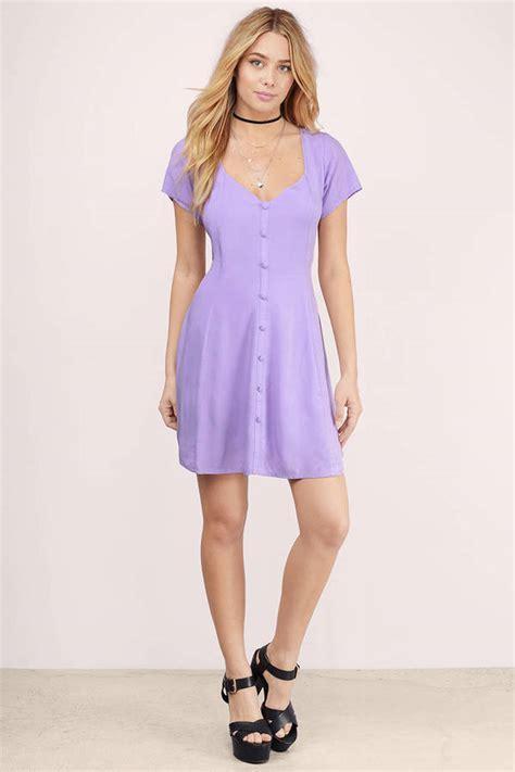 Dress Seoul lavender skater dress sweetheart dress cut out dress