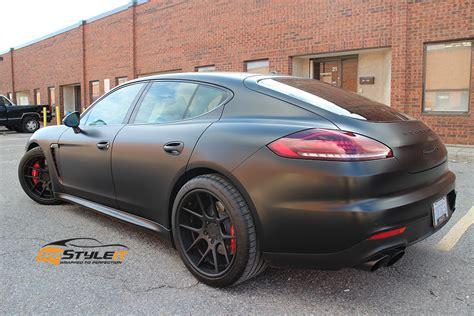 Porsche Panamera Gts Schwarz by Satin Black 2014 Porsche Panamera Gts Vehicle