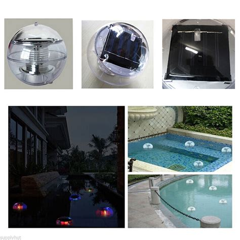 floating pool lights amazon outdoor solar led floating lights garden pond pool l