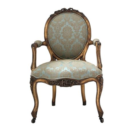 gold and turquoise louis armchair by out there interiors