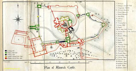 Park Place Floor Plans by Alnwick Castle Northumberland