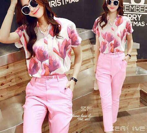 Setelan Celana Wanita Baju Setelan Wanita Setelan Murah Wanita setelan baju celana pink wanita model terbaru murah
