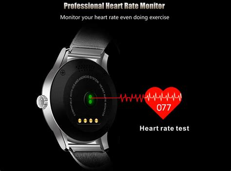 Smartwatch Rate K88h Bluetooth Smart Smartwatch Stainless Steel Band