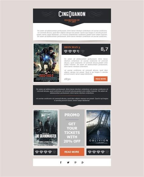 7 Best Email Marketing Template Images On Pinterest Email Marketing Templates Ffa Newsletter Templates