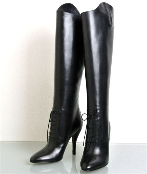 high heel leather boot new authentic gucci elizabeth high heel leather