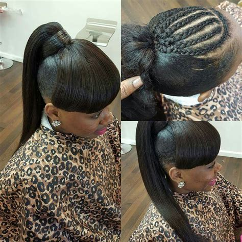 glue braids styles ponytail with bangs curls buns braids bobs knots