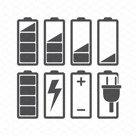 battery icons creative market