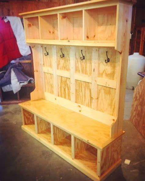 custom hall tree woodworking bench plans hall tree