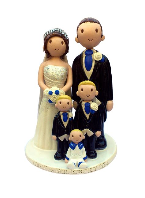 Handmade Wedding Cake Toppers - wedding cake toppers made personalised ceramic cake