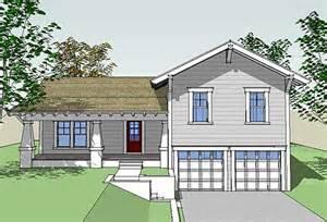 Front Porch Designs For Split Level Homes Plan W44067td Craftsman Split Level E Architectural Design