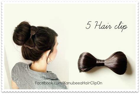 Bando Pita Instan kanubeea hair clip 6 gaya padu padan cepol chic bun