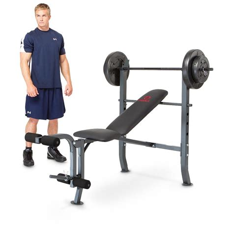 marcy standard weight bench with 80 lb weight set marcy 174 weight bench with 80 lb weight set 210174 at sportsman s guide