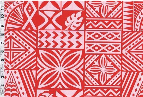 Softest Cotton Sheets by Samoan Red Tattoo Poly Cotton Fabric Print 60 Quot Ebay
