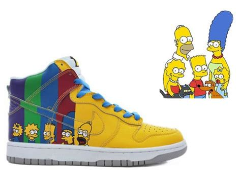 Ms Simpsons Sultry Shoes by Hightops The Simpsons Nike Dunk Custom Sneaker Le