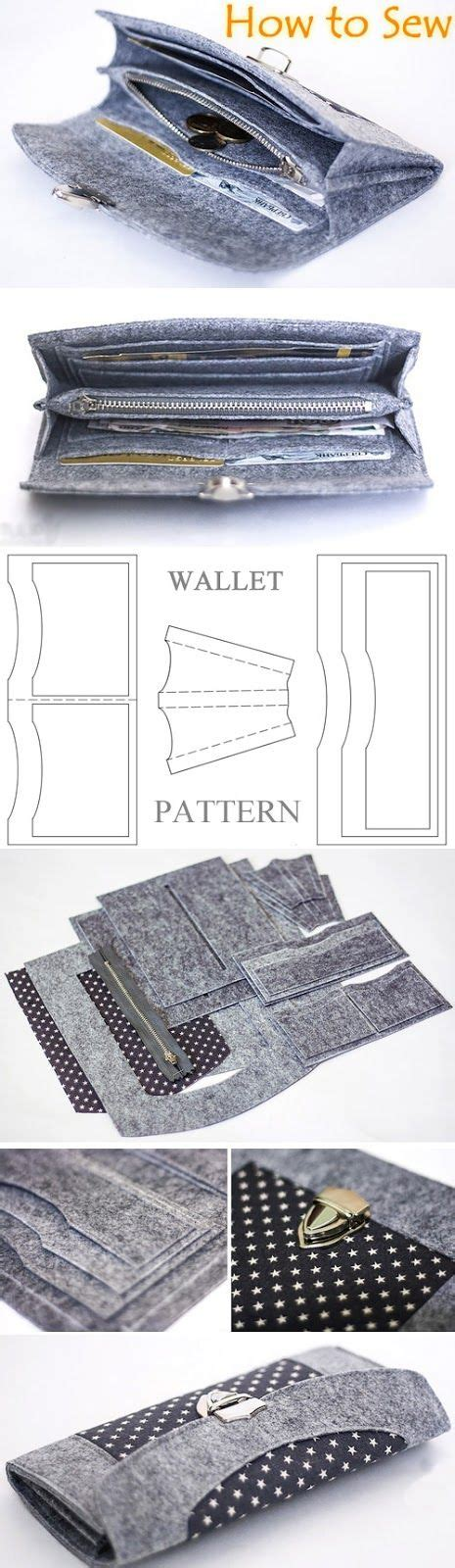pattern felt wallet wallet sewing pattern tutorial felt wallet pattern diy
