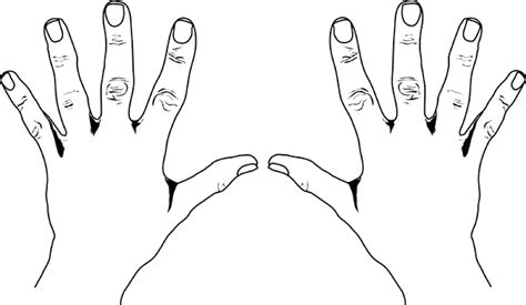 coloring pages of hands with nails united states style counting hands clipart etc