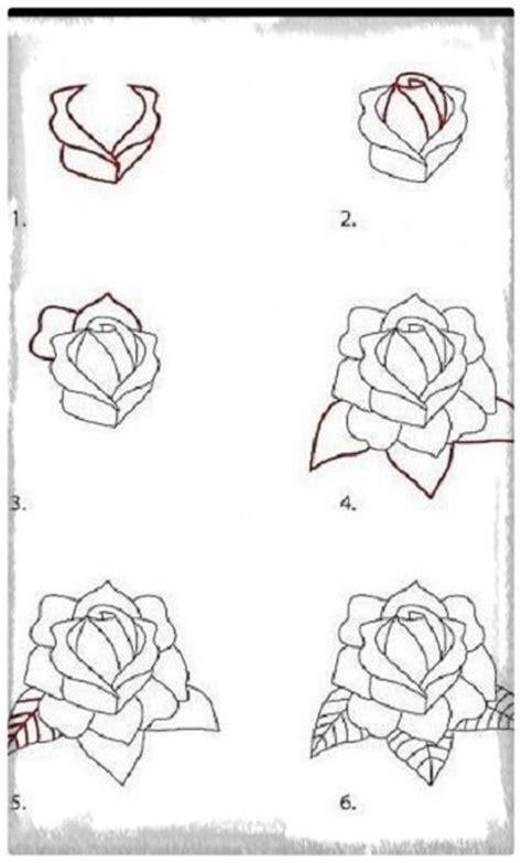 imagenes de flores para dibujar faciles paso a paso dibujo rosa facil paso a paso dibujos de amor a lapiz