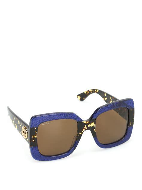Sunglasses Gucci Original 1 glittered square sunglasses by gucci sunglasses ikrix