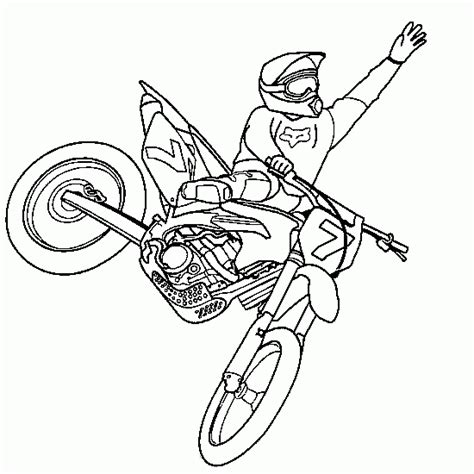 Motocross Coloring Pages cars and vehicles coloring colouring motocross jump
