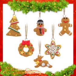 big sale 6pcs mini christmas tree hanging accessories