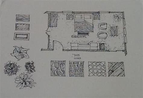 dash in interior hand drawn designs floor plan layout demonstration adding texture to a floor plan hand drawn