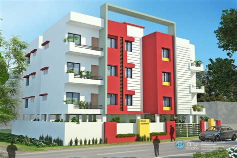 Appartment Elevation by Apartment Modern Exterior Elevation Arystudios