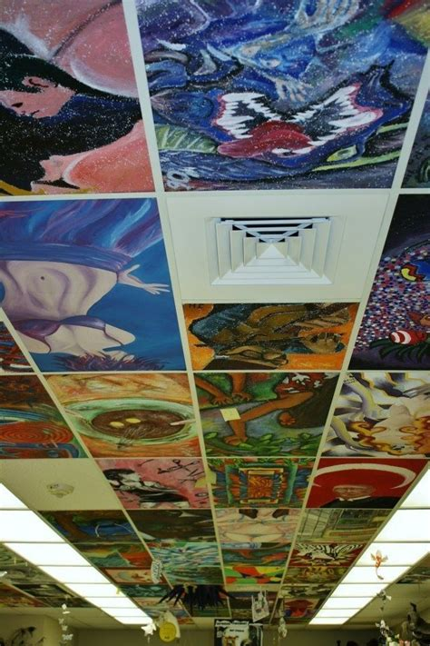 How To Paint Ceiling Tiles by 21 Diy Ideas For Decorating Your Classroom Ceiling Tiles