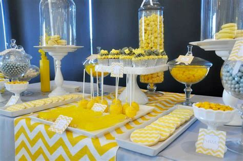 yellow decor bridal shower decor package yellow gray chevron