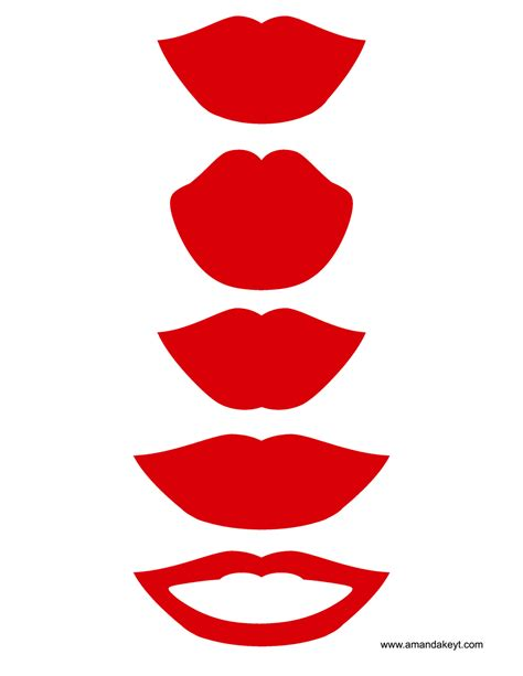 Lips From Wedding Red Black Printable Photo Booth Prop Set | lips from wedding red black printable photo booth prop set