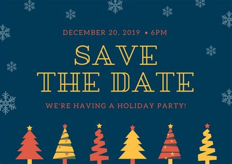 save the date holiday party free template customize 51 postcard templates canva