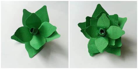 Plant Origami - paper origami make a succulent plant home crafts