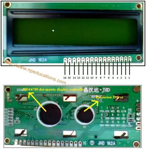 16 2 lcd display pin diagram interfacing16x2 lcd with pic microcontroller