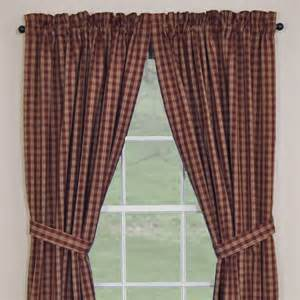 Primitive Home Decor Coupon Code Country Panel Curtains Sturbridge Wine Lined Panel 84 Quot