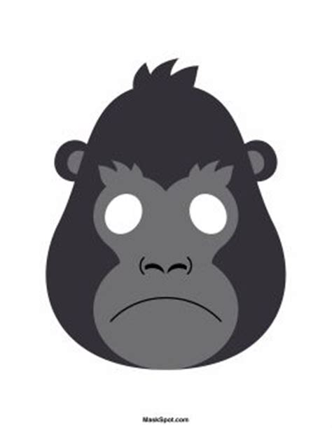 printable gorilla mask free gorilla mask templates including a coloring page version