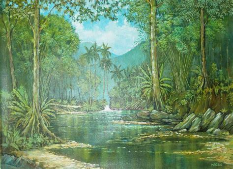 acrylic painting river river 36 quot x28 quot acrylic