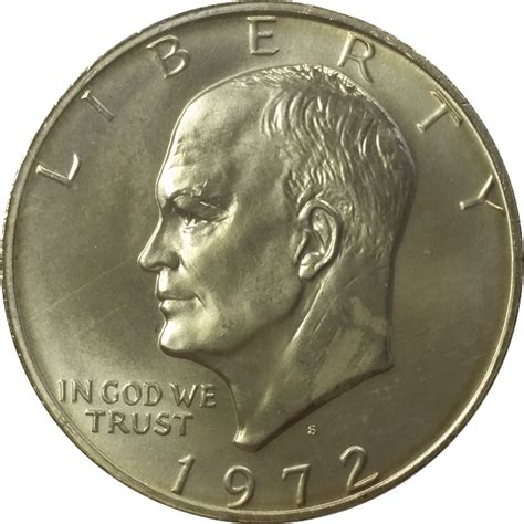 specifications eisenhower silver dollars 1972 40 silver eisenhower dollar bu sku 11072