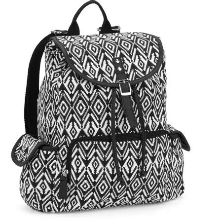Printed Zip Backpack no boundaries 18 quot printed canvas buckle flap zip pocket