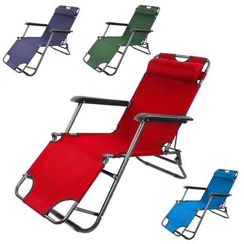 folding reclining beach chair 2x folding reclining garden chair sun lounger deck cing