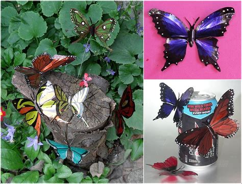 butterfly mobile made from aluminum pop cans gingerbread tin can aluminum can butterflies tutorial www fabartdiy com