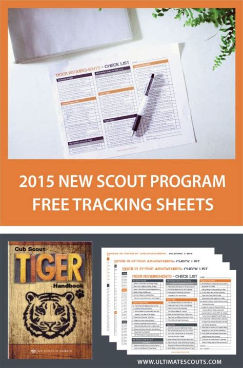 new year activities for cubs free printable tracking sheet for tiger cub scouts cub