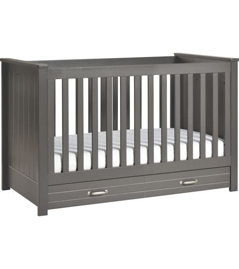 Slate Baby Crib by Davinci Asher 3 In 1 Convertible Crib With Toddler Bed