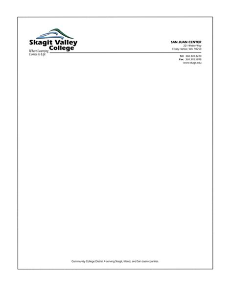 Format Of College Letterhead Letter Format Formal Letter Template