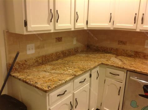 Backsplashes For Kitchens With Granite Countertops Mac S Before After Solarius Granite Countertop Backsplash Design Granix