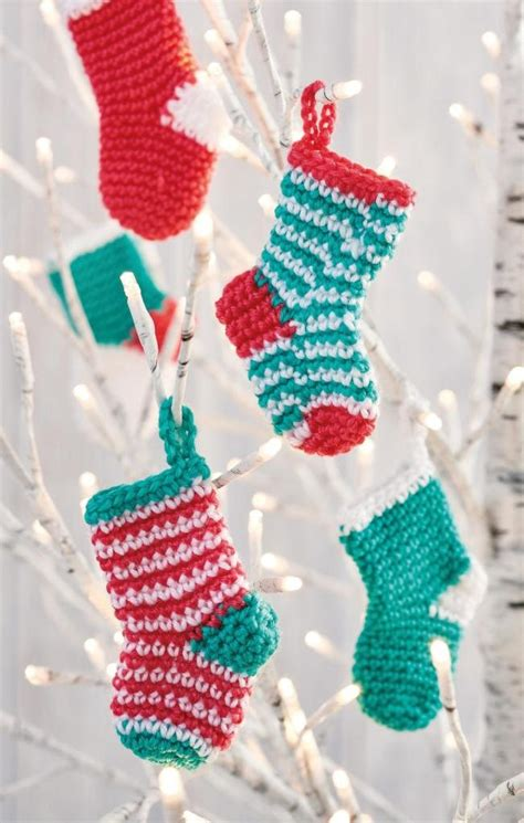 twenty five days of christmas minu stocking on a rope from crackabsral mini crochet pattern