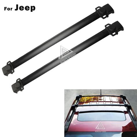 Jeep Roof Rack Cross Bars by Aliexpress Buy 2 Pcs Black Roof Rack Cross Bars For Jeep Compass 2011 2016 Car Cross Bar