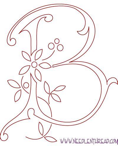 monogramma lettere monogram for embroidery letter b needlenthread