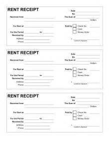 rental receipt template free rent receipt template pdf word eforms free
